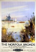 The Norfolk Broads. Vintage  British Railways (BR) Travel Poster by Frank Henry Mason